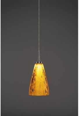 Bruck Lighting Zara 1 - Light Single Cone LED Pendant Color: Chrome