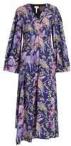 Loewe X Paula's Ibiza bird-print midi dress