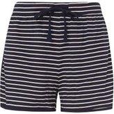 Dorothy Perkins Womens **Tall Navy Stripe Shorts- Blue