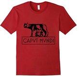 Heritage Products Rome latin motto wolf Romulus Remus caput mundi T-Shirt