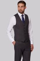 Moss Esq. Regular Fit Charcoal Birdseye Waistcoat