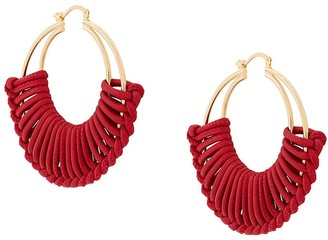 Bottega Veneta wrapped hoop earrings
