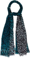 Jimmy Choo Cashmere Leopard Scarf