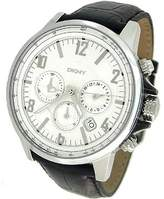 DKNY Men's NY1463 Black Leather Quartz Watch with Dial
