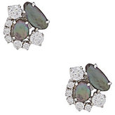 Nadri Sterling Silver & Mother-of-Pearl Cluster Stud Earrings