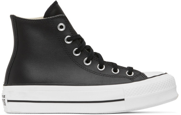 White Leather Converse High Tops | Shop