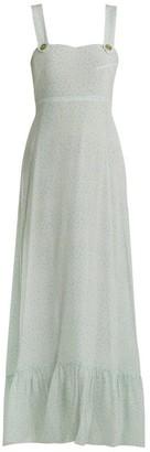 Athena Procopiou - Spring Rainbow Pinafore Silk Dress - Womens - Light Green