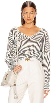 Nili Lotan Maggie Linen Sweater in Ivory & Black Stripe | FWRD