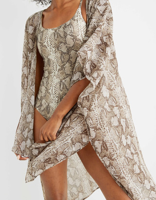aerie Chiffon Snake Kimono