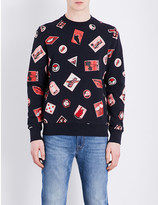 Paul Smith Embroidered cotton-jersey sweatshirt