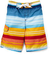 Kanu Surf Navy & Orange Victor Stripe Boardshorts - Toddler & Boys