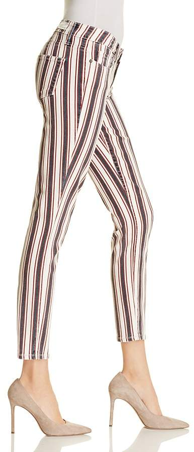 Paige Verdugo Skinny Ankle Jeans in Emerson Stripe
