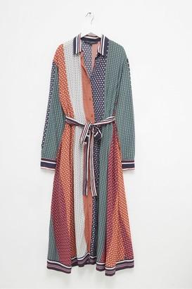 French Connection Claudina Drape Midi Shirt Dress