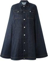 Givenchy dark denim cape - women - Cotton/Polyester/Spandex/Elastane - 38