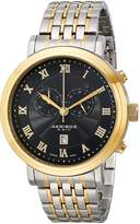 Akribos XXIV Men's AK590TTG Swiss Chronograph Stainless Steel Bracelet Watch