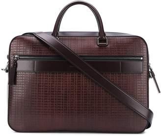 Ermenegildo Zegna Taccuino leather laptop bag