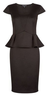 Dorothy Perkins Womens **Black Peplum Pencil Dress, Black