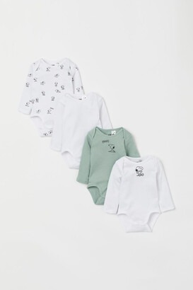 H&M 4-Pack Printed Bodysuits