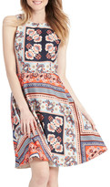 Donna Morgan Paisley Fit & Flare Dress (Petite)