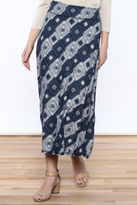 Tribal Textured Midi Skirt