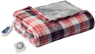 True North by Sleep Philosophy Jacob Oversized Plaid Plush Heated Throw