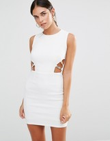 Rare Cut Out Bodycon Dress With Clasp Detail
