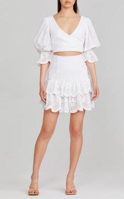 Significant Other Juliette Cotton Lace Mini Skirt