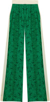Hazima printed silk-crepe wide-leg pants