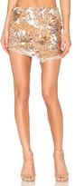 Aje Jaws Sequin Mini Skirt in Metallic Gold
