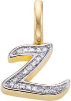 Monica Vinader Alphabet 18ct gold-vermeil and diamond pendant