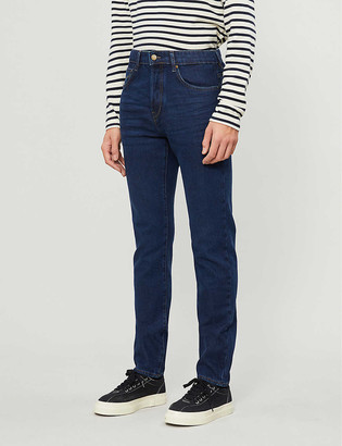 Ted Baker High-rise straight stretch-denim jeans