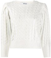 MSGM cropped cable-knit sweater