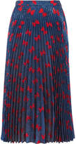Gucci Plissé-lamé Midi Skirt