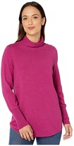 Nic+Zoe Petite It Item Turtleneck (Fuchsia) Women's Clothing