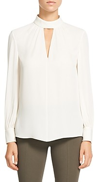 Theory Silk Neck Band Blouse