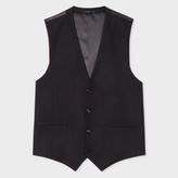 A Suit To Travel In - Men's Tailored-Fit Black Wool Waistcoat