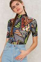 Jaded London Geometric Print Bodysuit