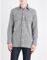 Wales Bonner Isaiah slim-fit linen-blend shirt