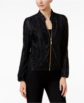MSK Pleated Bomber Jacket