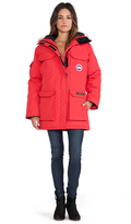 Canada Goose Expedition Parka with Coyote Fur Trim in Red. - size S (also in )