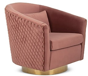 Safavieh Couture Clara Quilted Swivel Tub Chair
