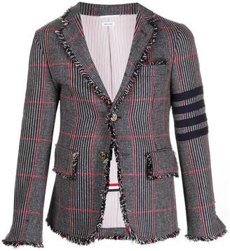 Thom Browne Check Tweed Blazer