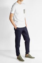 Fendi Cotton T-Shirt with Printed Pockets