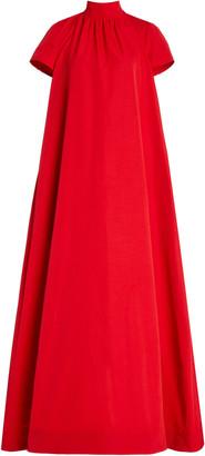 STAUD Ilana High-Neck Crepe Maxi Dress