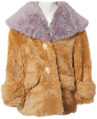Miu Miu Camel Faux fur Coat for Women