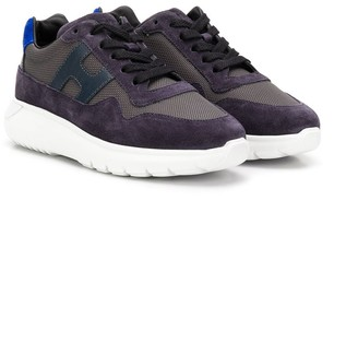 Hogan lace-up panelled sneakers