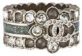 Chanel Crystal & Enamel CC Ring