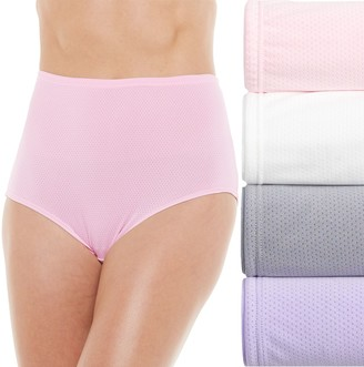 Fruit of the Loom Women's Signature 4-pack Micro Mesh Briefs 4DKBMBR