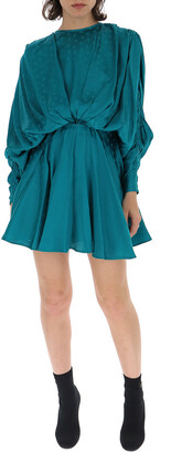 ATTICO Gathered Star Print Mini Dress