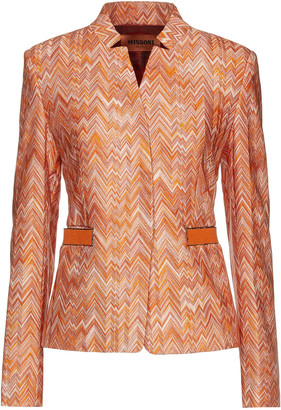 Missoni Metallic-trimmed Crochet-knit Jacket